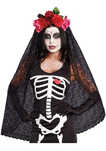 Dreamgirl Womens Dia de los Muertos Sugar Skull Costume Headpiece