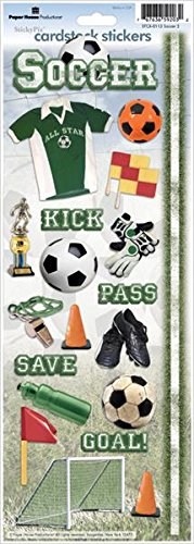 Paper House Productions STCX-0112RTE Sports Cardstock Stickers, Soccer 2