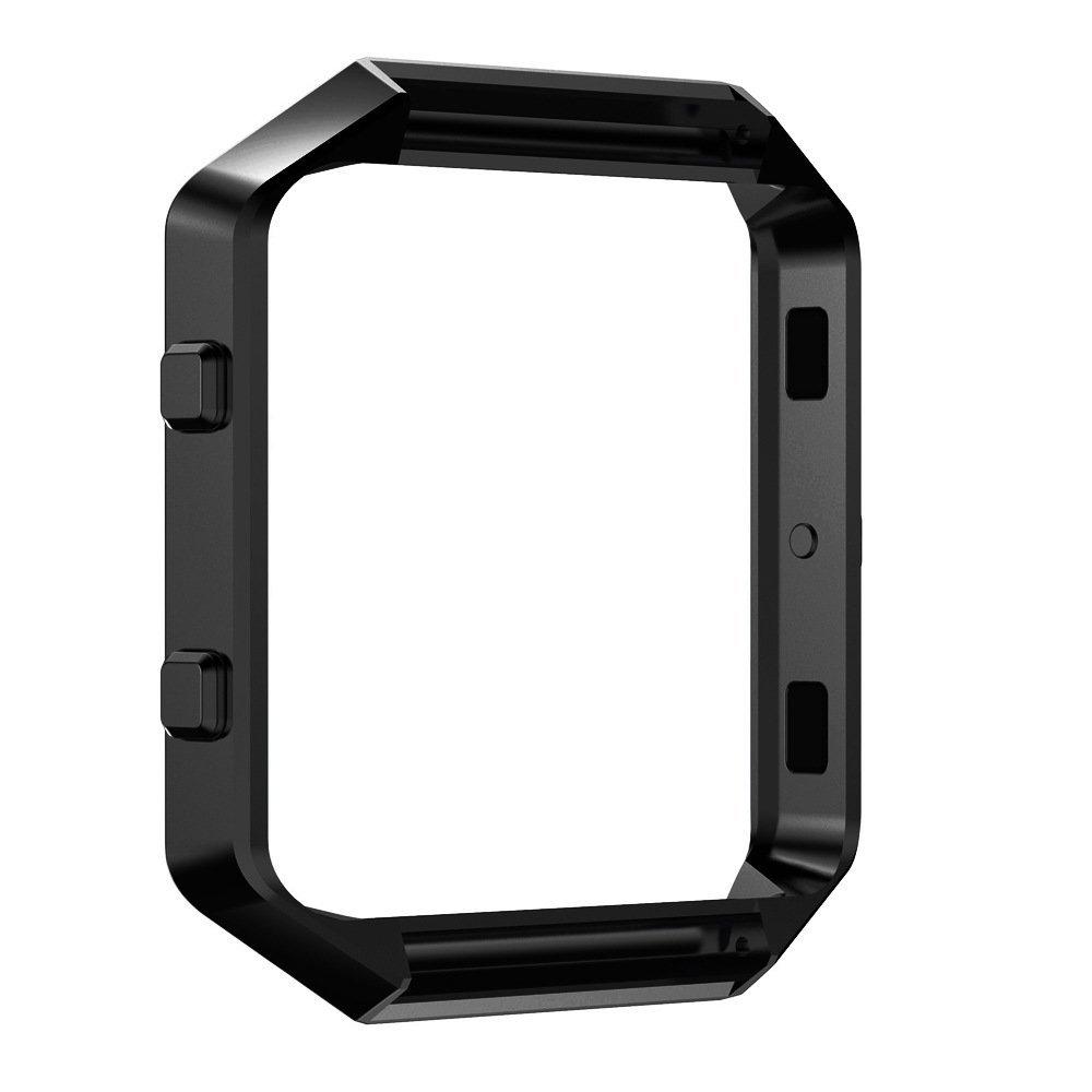 Pinhen Fitbit Blaze Accessory Frame Metal Stainless Steel Black Pinheng t35