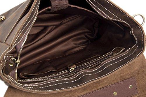 hombre Bolso para hombro al ROCKCOW oscuro Marrón marrón 4vqIBwR