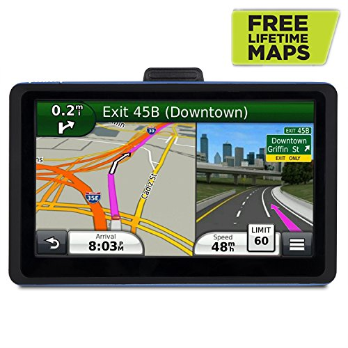 Vehicle GPS Navigation, 7 inch Touch Screen + 8GB Voice Prompt GPS Navigation Built-in Multi-Media and FM for Car with Lifetime Maps