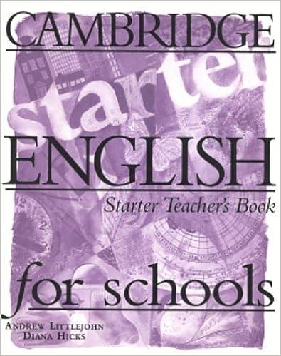 Cambridge English For Schools Starter Teachers Book