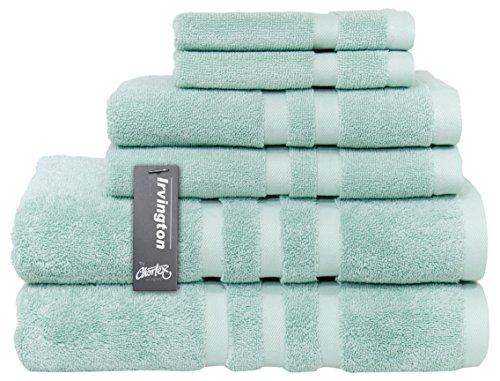 Chortex Luxury Turkish Cotton 6 Piece Towel Set, Set of 6, Mineral
