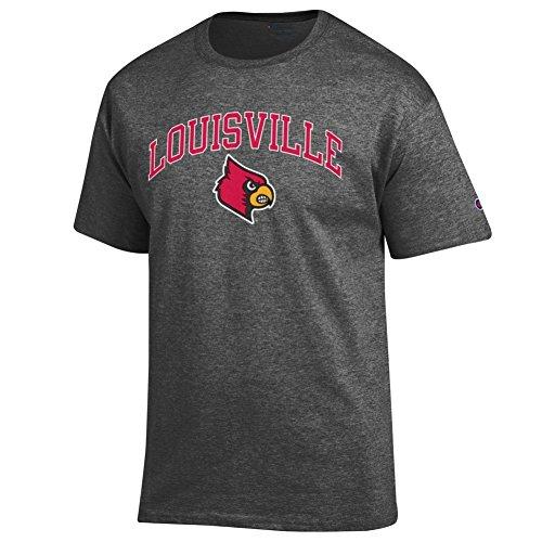 Elite Fan Shop Louisville Cardinals Tshirt Varsity Charcoal - L (Louisville Cardinals Fan)