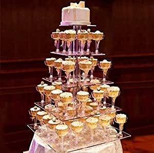 how heavy is a 3 tier wedding cake efavormart 5 tier square heavy duty acrylic 15401