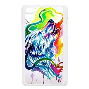 New Design Case for iPod touch4 w/ Wolf image at Hmh-xase (style 3)