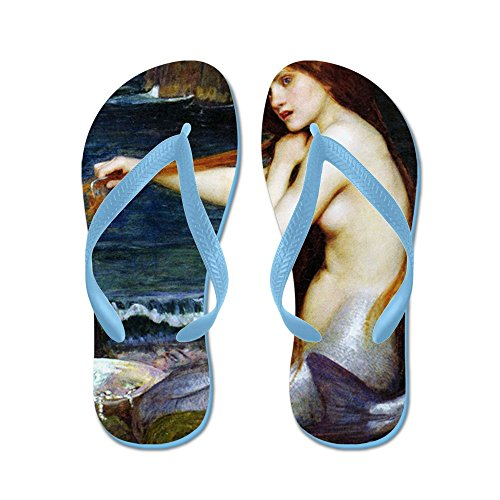 CafePress John William Waterhouse Mermaid. - Flip Flops, Funny Thong Sandals, Beach Sandals Caribbean Blue