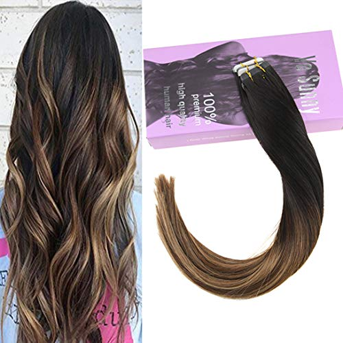 VeSunny Tape in Hair Extensions Ombre Human Hair Color for sale  Delivered anywhere in USA