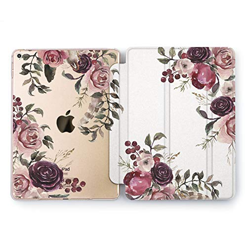 Wonder Wild Vintage Bouquet iPad Mini 1 2 3 4 Air 2 Pro 10.5 12.9 Tablet 2018 2017 9.7 inch Drawn Case Smart Stand Floral Beauty Flower Pretty Sweet Beautiful Tulips Rose Print Leaves Luxury Trend