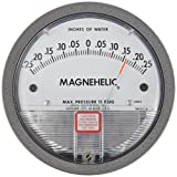 "Dwyer Magnehelic Series 2000 Differential Pressure Gauge, Range 0.25-0-0.25""WC"