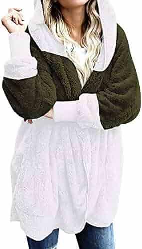 Dapigu Womens Faux Fur Coats Slim Fit PU Leather Fur Fluffy Plus Size Outerwear