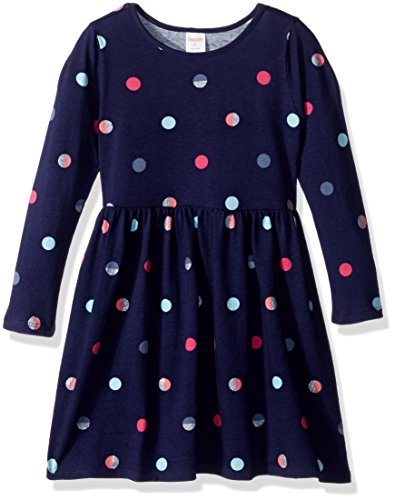 2t Girl Gymboree - Gymboree Girls' Toddler Long Sleeve Winter Skater Dress, Ocean Trench, 2T