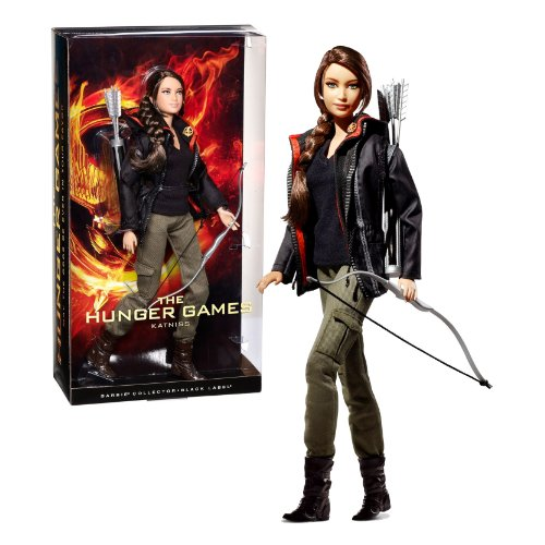 Mattel Year 2012 Barbie Movie Series ''The Hunger Games'' Black Label Collector 12 Inch Doll - KATNISS with Bow, Quiver and Arrows by The Hunger Games