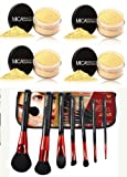 Bundle 5 Items: Mica Beauty Mineral Foundation 9 Gr Mf-7 lady godiva Full Coverage 100% Natural +7 Pc Makeup Brush By Itay