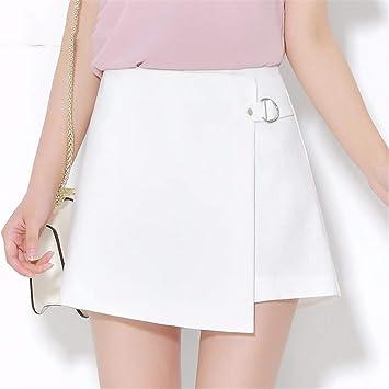 144359d078 JJNZD Jupes Jupe Taille Haute Lâche Femme Pantalon Large Jupe Un Short Été  Automne, 31