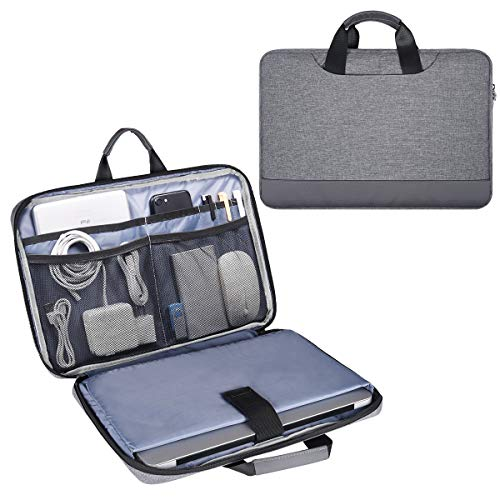 13.5 15 Inch Laptop Case, Men Women Laptop Bag Sleeve with Electronics Organizer for Dell Inspiron 13, Surface Laptop 2 13.5, HP Pavilion x360/EliteBook 840 14, Lenovo ThinkPad X1 Carring Bag, Gray