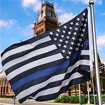 Amazon.com : Thin Blue Line American Flag - 3 by 5 Foot ...