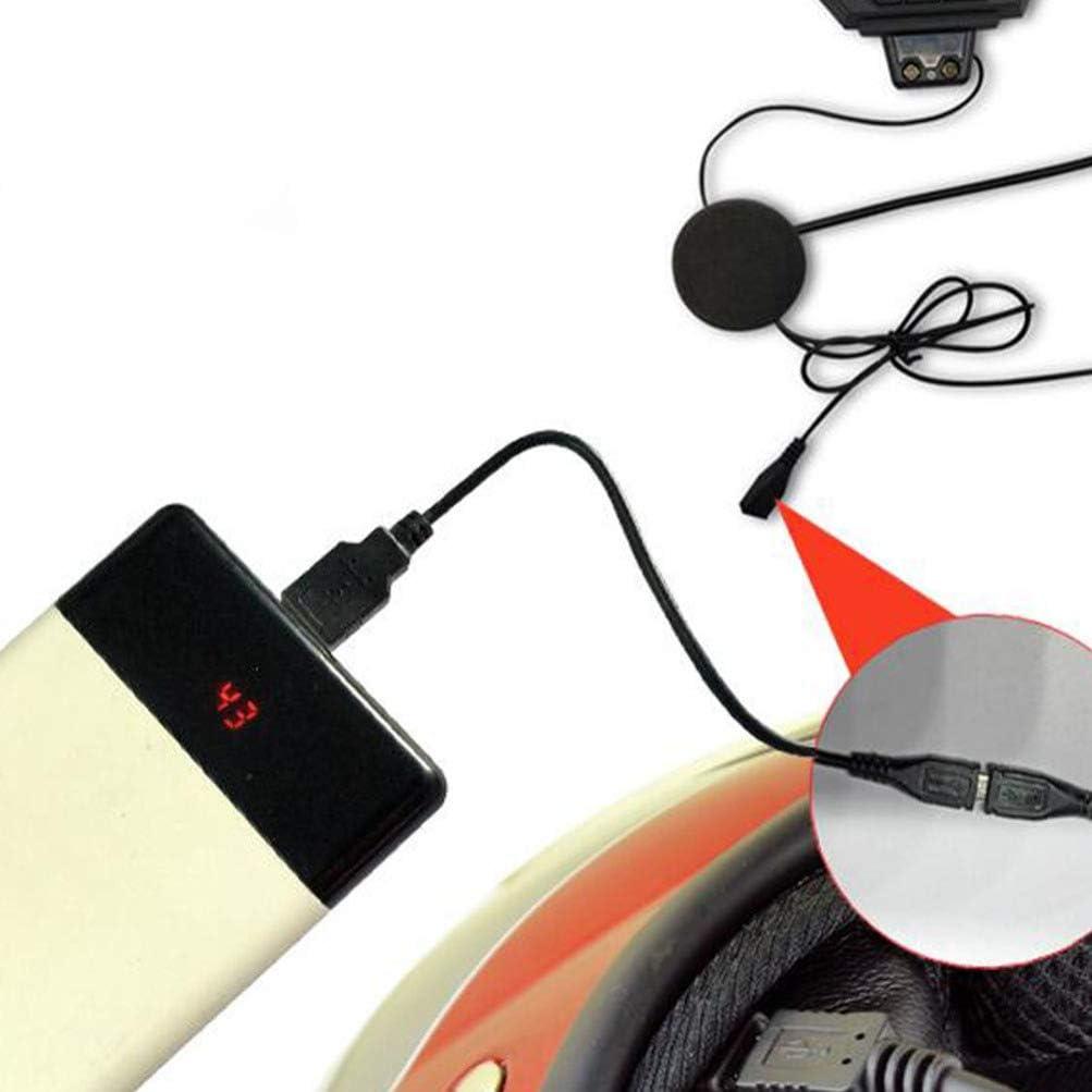 Wakauto Motorcycle Intercom Helmet Headset Motobike Wireless Headphone Communicator Talk for Skiing Motorbike Camping