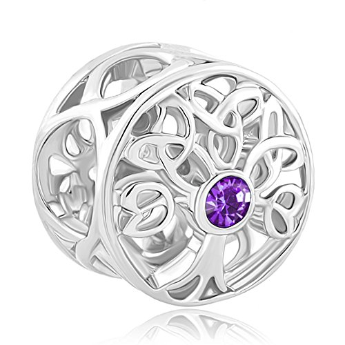 CoolJewelry Sterling Silver Family Tree Of life February ...