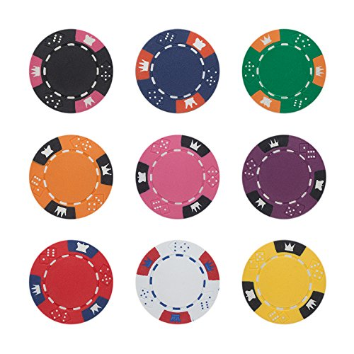 Brybelly Crown & Dice Poker Chip Heavyweight 14-gram Clay Composite - Pack of 50