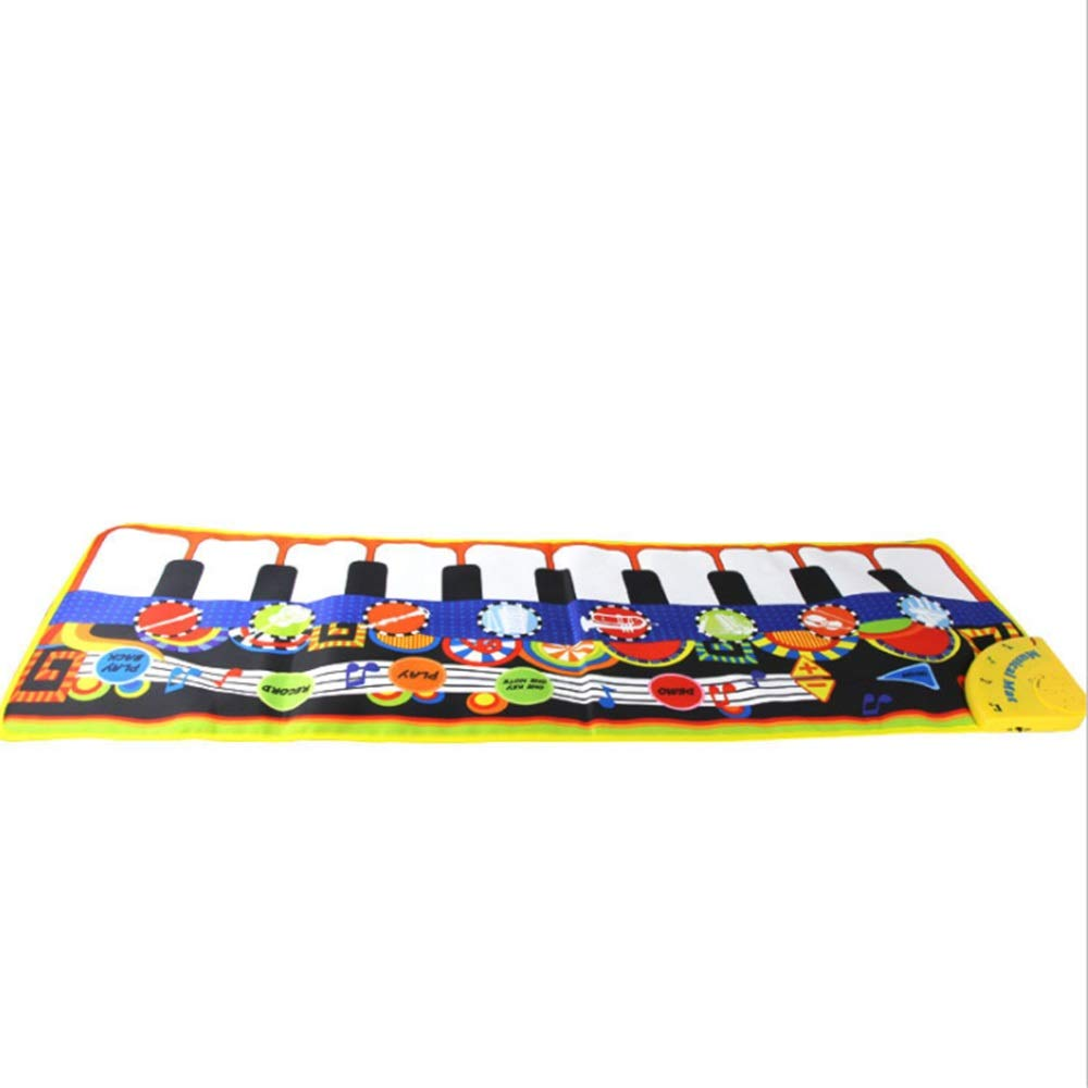Play Keyboard Mat Electronic Musical Keyboard Playmat 43 Inches 10 Keys Foldable Floor Keyboard Piano Dancing Activity Mat Step And Play Instrument Toys For Toddlers Kids Children's Gift Different Mus by GAOCAN-gq (Image #4)