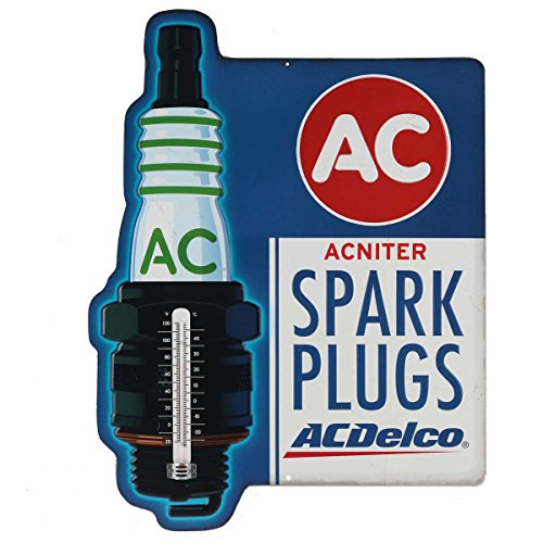 - Utopia Alley Ac Delco Spark Plugs Embossed Tin Thermometer Sign