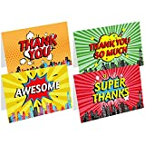 Superhero Party Supplies Thank You Cards 24 Thank You Notes With Envelopes and Stickers