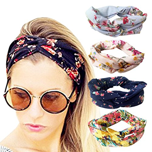 4 Pack Cloth Headbands