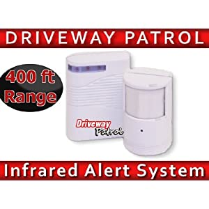 Driveway Parking Patrol Sensor and Receiver Kit - Wireless up to 400ft -by Unique Imports