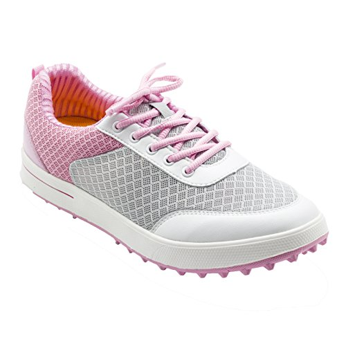 PGM Breathable Summer Golf Shoes for Women, XZ081 (Pink Blue) (36 M EU / 5.5 B(M) US, Pink)