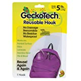 GeckoTech 282314 Removable, Reusable Hook with Microsuction Technology, 5-Pound, 1-Pack