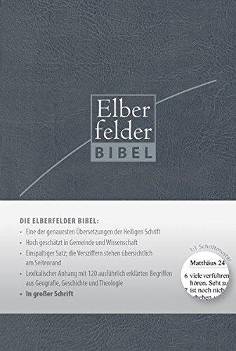 Elberfelder Bibel in großer Schrift, ital. Kunstleder blau