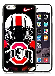 Ncaa Big Ten Conference Football Ohio State Buckeyes(5) Black iPhone 6 Plus 5.5 inch TPU Cellphone Case Luxurious and Newest Design