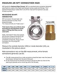 "1 4"" (316) Mini Válvula de bola de acero inoxidable FXM NPT"