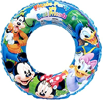 Mickey Mouse Transparent Inflatable Swimming Ring Swim Tube