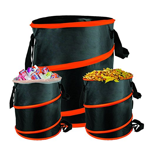 The Elixir Deco 10 Gallon Pop-up Gardening Bag Garden Spring Bucket for Year/Lawn Leaf Trash Container