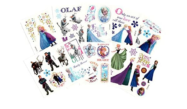 Disney Frozen Temporary Tattoos (Set of 10 Sheets)(Includes ...