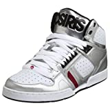 Osiris Men's Bronx Hi Top Sneaker,Silver/White/Red,11 M