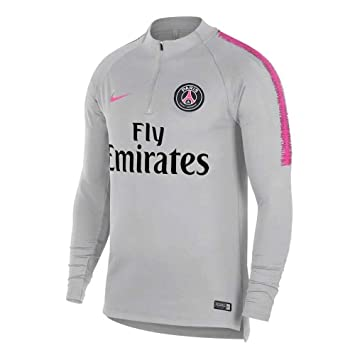 Nike PSG M NK Dry SQD Dril Top - Camiseta, Hombre, (Wolf Grey