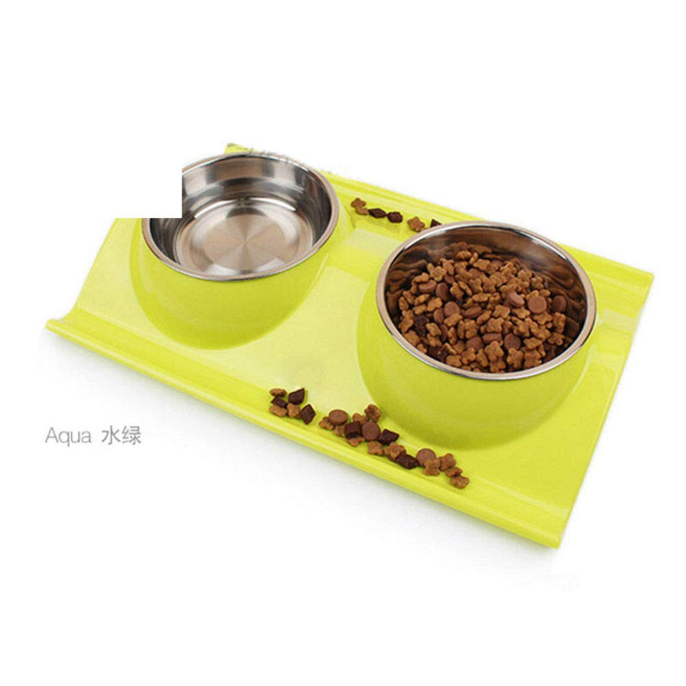 B Stainless Steel Double Bowl,Pet Feeding SuppliesD