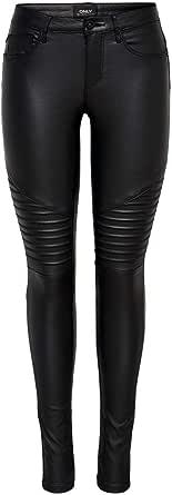 Only Onlnew Royal Reg SK. Biker Coated Noos Pantalones para Mujer
