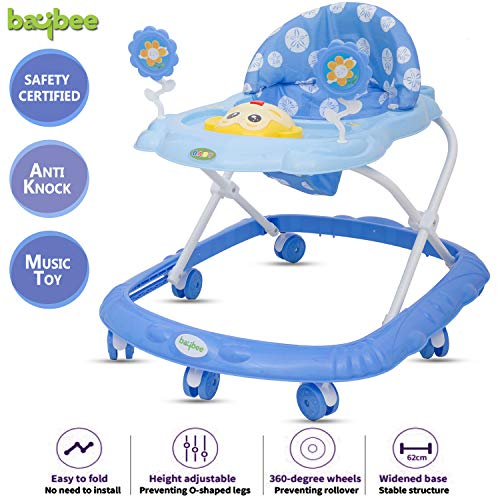 Baybee Ziggy Baby Walker Round Kids Walker for Babies Cycle with Adjustable Height and Musical Toy...