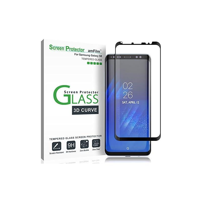 Galaxy S8 Screen Protector Glass, amFilm