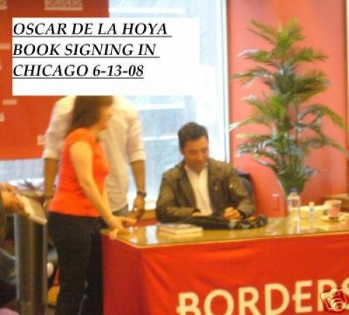Oscar De La Hoya autographed Book (Boxing Champion) Autographed Boxing Equipment