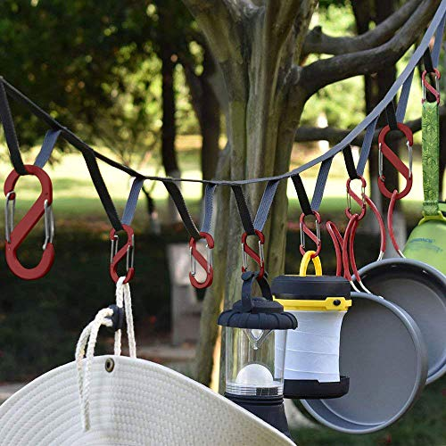Outdoor Camping Lanyard with Hook, Elevin(TM) Outdoor Camping Lanyard with Hook Rope Storage Travel Clothesline Tent Hook Accessories]()