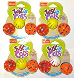 ♓ Hartz Swat Cat Toy, 12 Bizzy Balls ♓