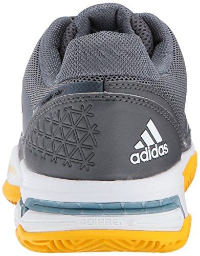 Adidas Menns Barrikaden Klubb Tennis Sko, Hvit / Svart / Grå, 4,5 M Oss Natt Metallic / Hvit / Svart