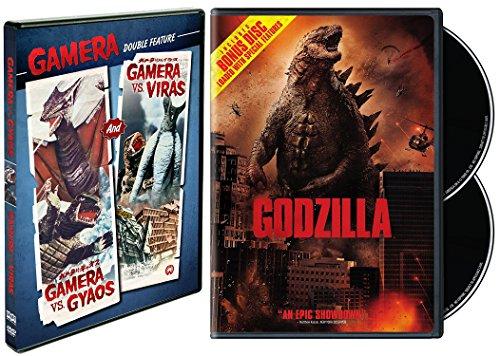 Godzilla (2014) & Gamera Double Feature - Gamera Vs. Gyaos and Gamera Vs. Viras 3-Movie Bundle