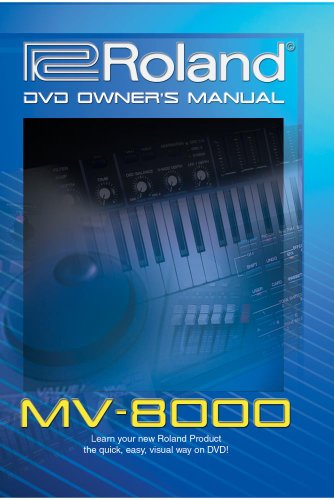Roland MV-8000 / MV-8800 DVD Video Training Tutorial Help 8800 Video