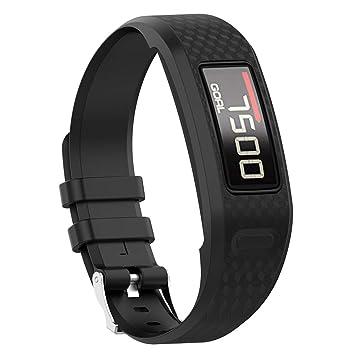 DERKOLY - Correa de Repuesto para Reloj Inteligente Garmin Vivofit 1 2, Negro: Amazon.es: Deportes y aire libre